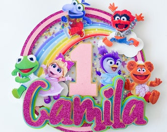 Muppet Cake Topper, Shaker Cake topper, Muppet Babies Centerpiece, Custom Muppet Babies Topper, Muppet Party Decoration