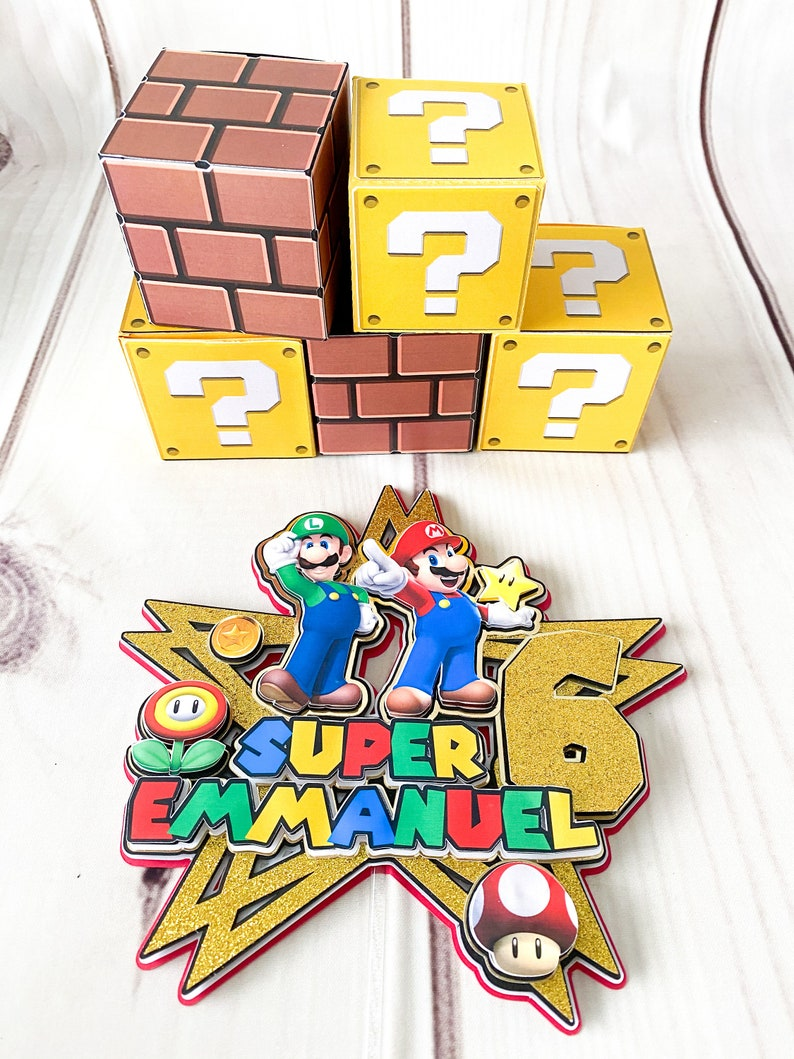 Super Mario Candy Box Super Mario Party Super Mario favor candy box Mario Bross party favors,Mario Bross Gift Box Mario Bros Decoration