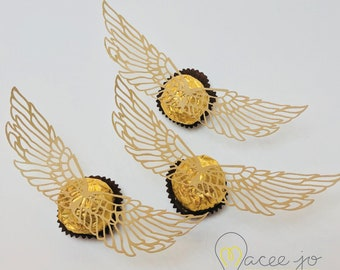 Shocking image for golden snitch wings printable