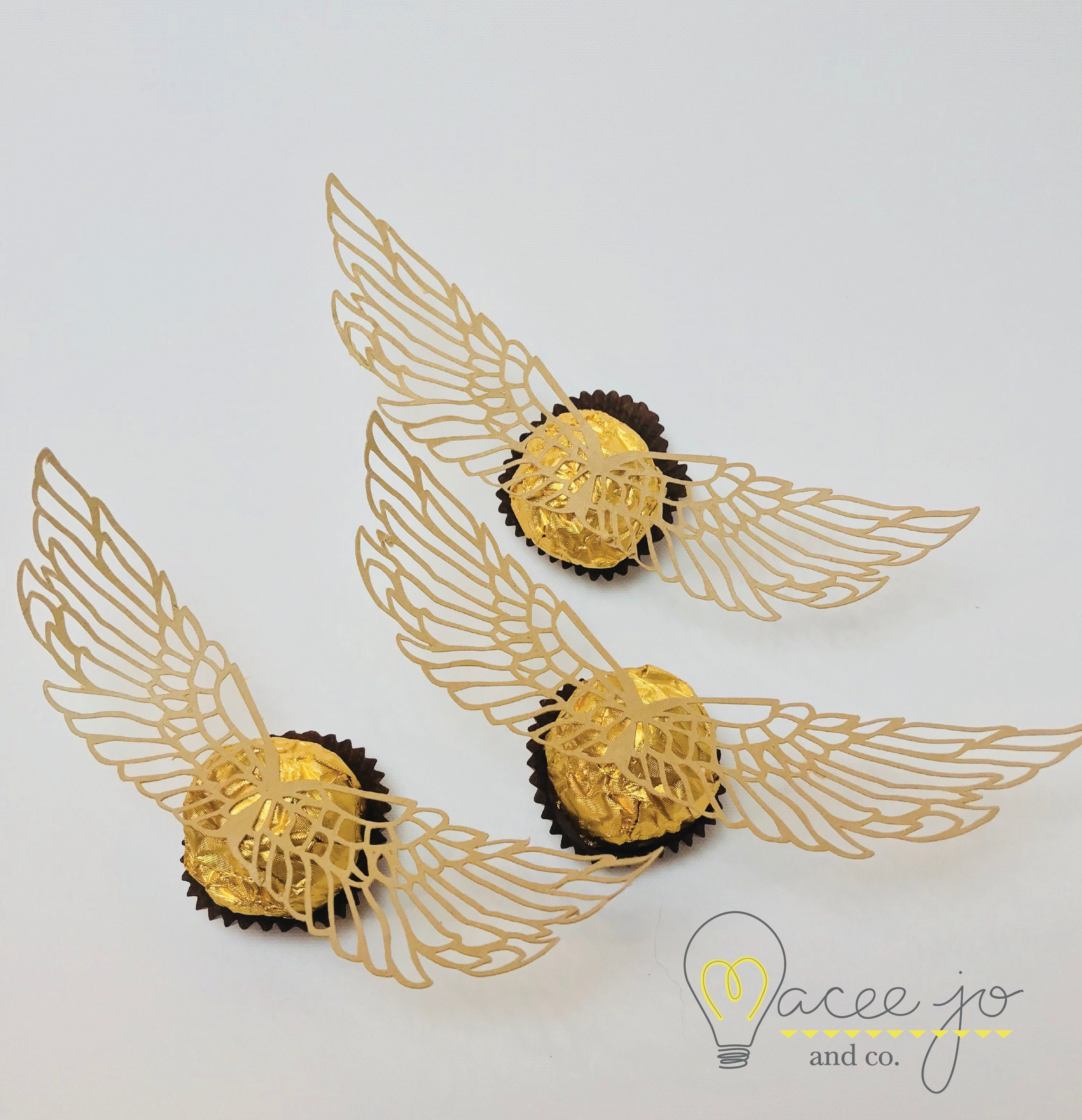 This is a photo of Juicy Printable Snitch Wings