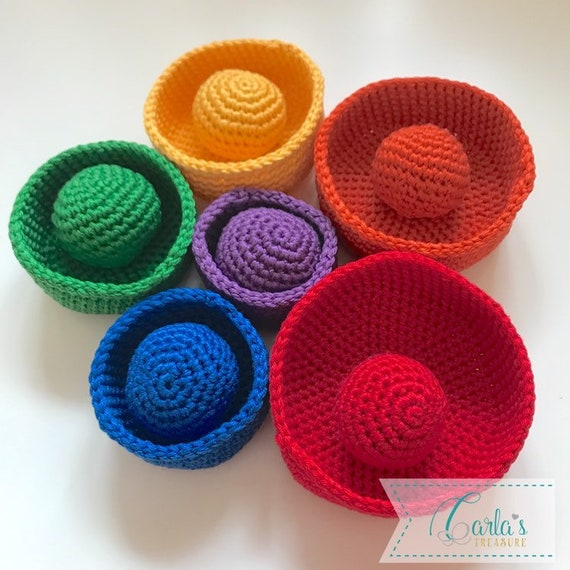 Nesting Crochet Baskets & Balls