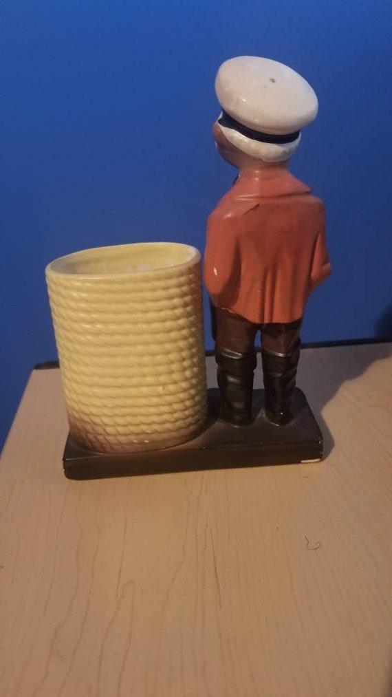 Vintage Nanco Japan Ceramic Seaman with Basket