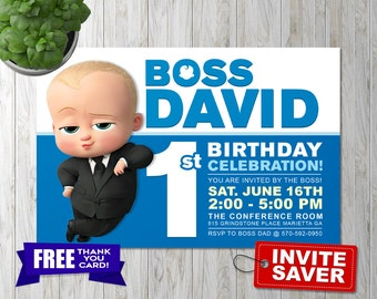 Boss Baby Invitation, Boss Baby Birthday, Boss Baby Party, Boss Baby Invite, Boss Baby