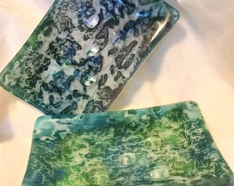 Fused Art Glass Soap Dish