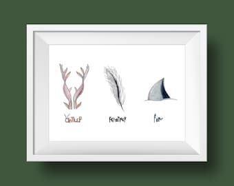Antler * Feather * Fin * (ReEnchantment Trio)