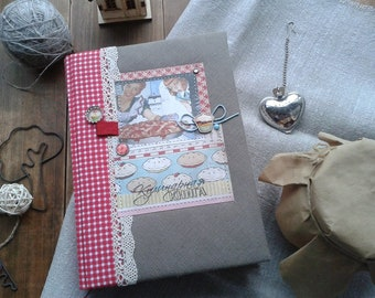 recipe book Handbound cook book Recipe journal Gift for mom Notebook for recipe Cookery recipe notebook Gift for her Bakers gift
