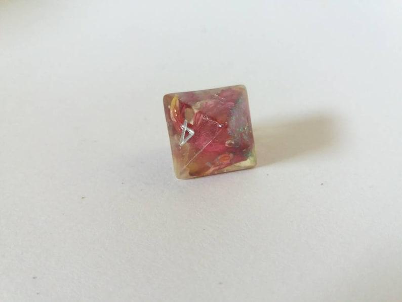 Rose glitter dices