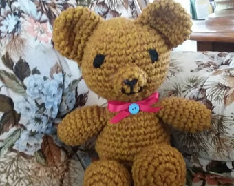 Brown Handmade Teddy Bear Crochet