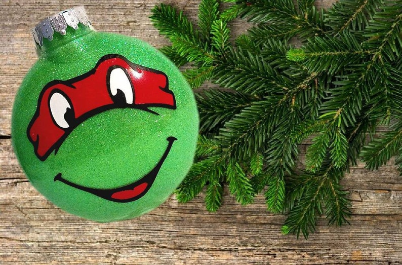 Ninja Turtle Christmas Tree.Teenage Mutant Ninja Turtles Christmas Ornament Any Color Or Character
