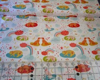 Novelty Cotton fabric-Oh, Woof!-Daydream Dogdream -Art Gallery Fabrics-fabric by yard or half yard