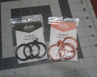 Purse hardware kit Sallie Tomato-Scarlett Hardware Kit-gunmetal,rose gold-1 1/2 inch hardware
