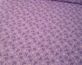 Cotton Fabric - Nifty Floral Vines - flower Vines-Nifty Tonal Lilac fabric by half yard