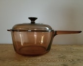Vision Corning Ware 2.5 L Amber Glass Cooking Pot