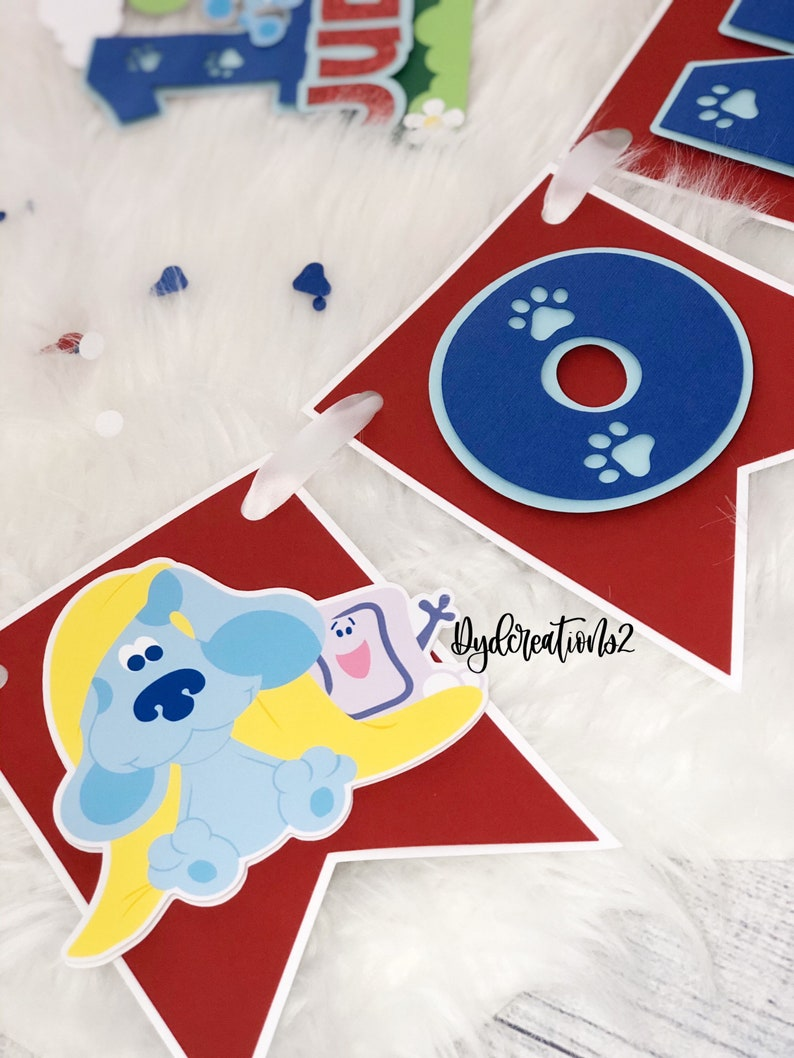 Blue Dog Cake Topper | Personalized Blues Clues Cake Topper Blues Clues Banner