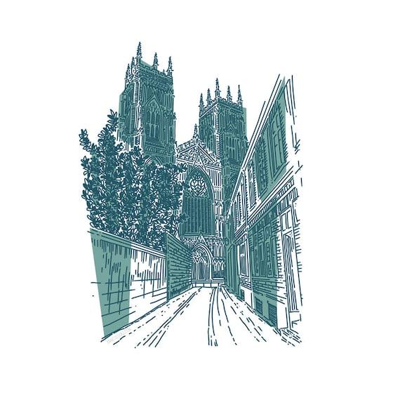York Minster. Digital Print