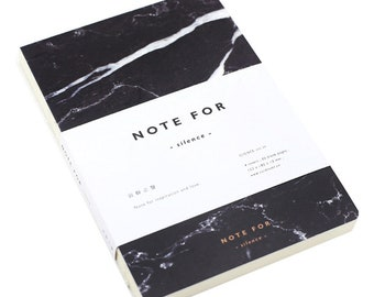 Japanese Marble A5 Notebook 80 Blank Pages - Ships from Australia