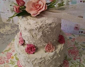 fake cake wedding shabby chic cake faux cake bridal