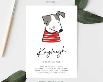 Love Dog Birthday Invitations Digital Stationery Online Delivery