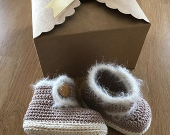 Handmade Crochet Baby Booties - Ideal New Baby/Baby Shower/Baby Reveal Gifts