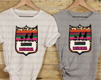 0e00e28004 Rodeo Momma Shirt - Team Roper t shirt - Rodeo Tee - Cowboy Shirt - Womens  Shirt - Serape and leopard rodeo with Team Roper graphic cowgirl