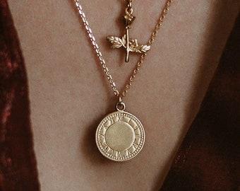 Römische Münze Halskette Etsy