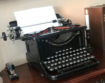WORKING LC Smith & Corona Typewriter 8-11