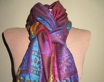 Multi-colored Cashmere Scarf