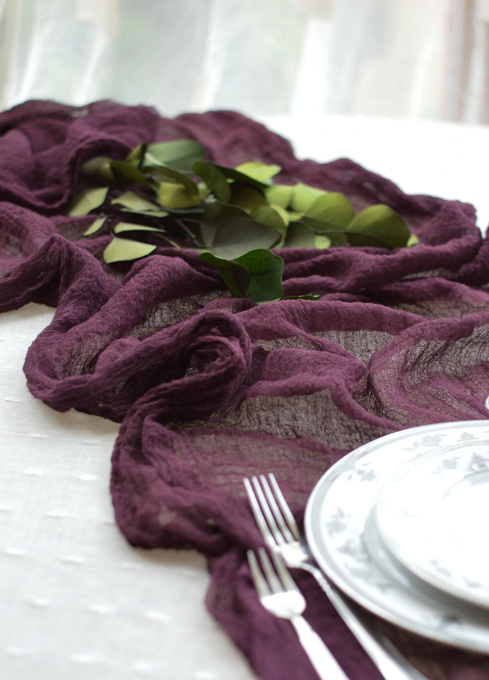 Tischläufer hochzeit lila