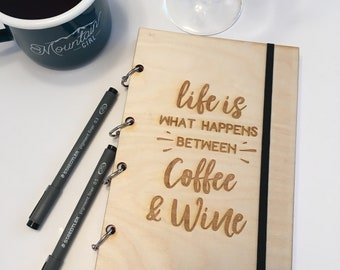 Coffee and Wine Refillable Journal