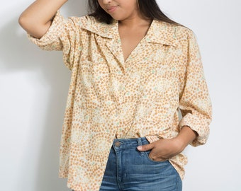 bce7f687aed 70s Vintage Sunny Floral Button Down