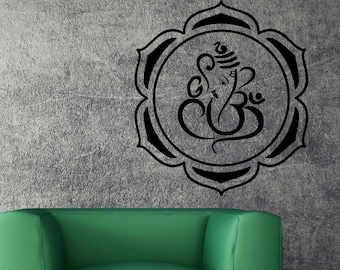 Wall Vinyl Decal Ganesha Hinduism Hindu India Religion Best Seller Unique Decal caig2504