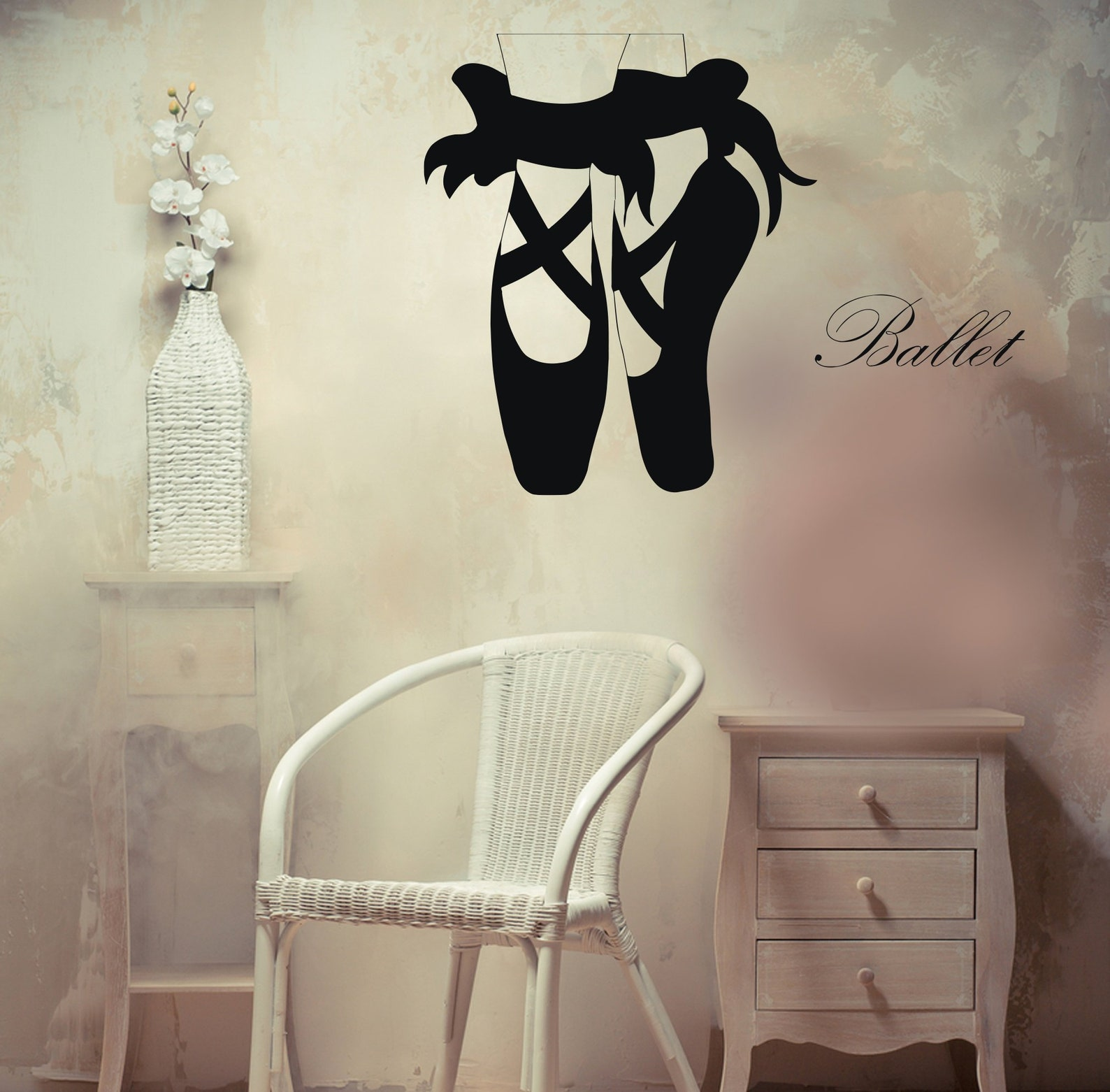 vinyl wall decal pointe shoes for dance ballet unique decal can296