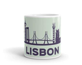 Lisbon city skyline,  white Mug