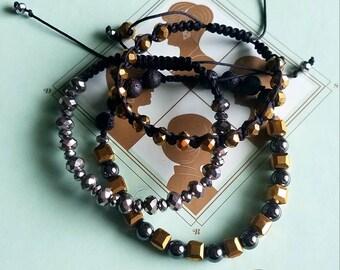 Cleopatra Stack - Set of 3 bracelets