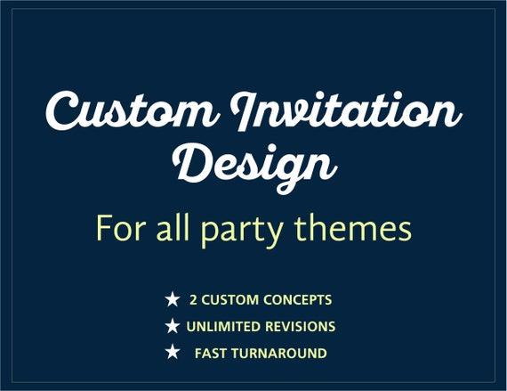 Custom Design Invitation Graphic Designer For Invitation Etsy