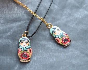 Russian Doll Necklace // Matryoshka Necklace // Babushka Necklace  // Nesting Doll Necklace