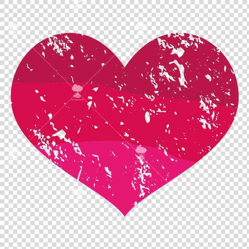 Download Grunge pink heart svg distressed heart svg Love svg | Etsy