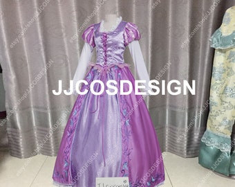 7366226b4 Customize Tangled Rapunzel Princess Cosplay Costumes on Your Size