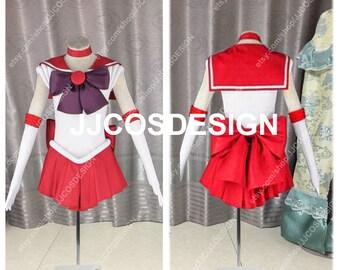 Customize Sailor Moon Sailor Mars Hino Rei Cosplay Costume on Your Size e2311956e03a