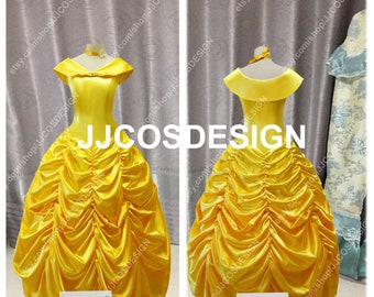 ffcb203247 Customize Beauty And The Beast Adult Princess Belle Cosplay Costume on Your  Size