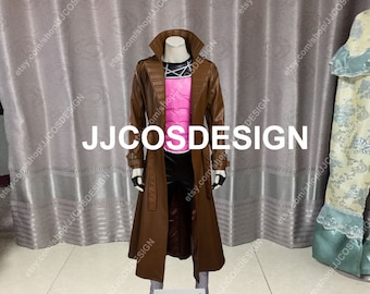 Customize X Men Gambit Remy Etienne LeBeau Cosplay Costume on Your Size 3e1bc83a5