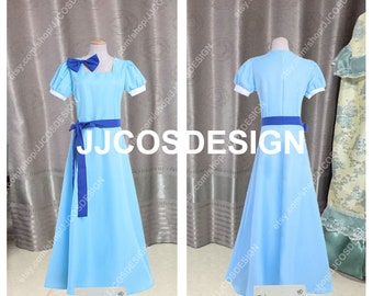 Customize Peter Pan Wendy Darling Cosplay Costume on Your Size Free Shipping