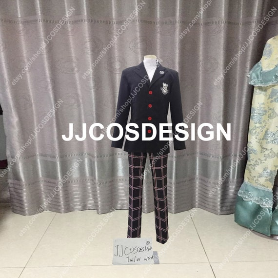 Persona 5 Ryuji Sakamoto Shujin School Uniform Cosplay Costume CS