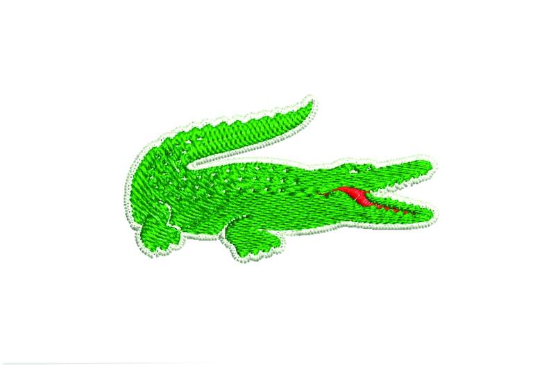 494623a0f37 Lacoste embroidery design crocodile embroidery alligator