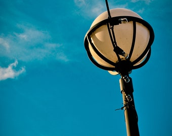 London Street Lamp sunny day Photography Home decor