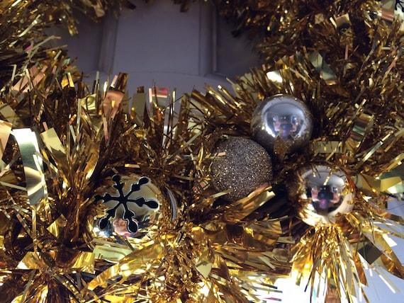 Gold Glitter Bell Türkranz Weihnachts Dekor Flur Jingle Glocken Saisonale Dekoration Hand Gemacht