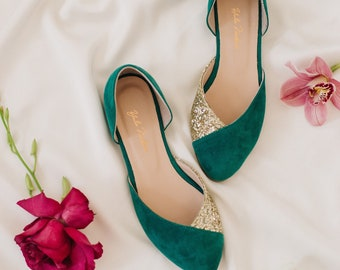 the best order classic styles Emerald green shoes | Etsy