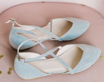 3271a91d468 Blue wedding shoes