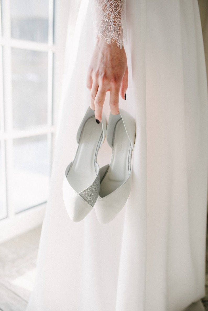 Silver Flats For Wedding.Wedding Shoes White Wedding Shoes Bridal Ballet Flats Low Wedding Shoes Bridal Flats Wedding Flats Silver Flats Ballet Flats
