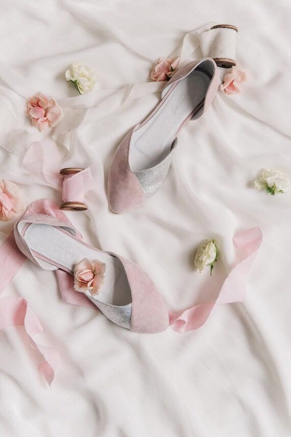 Hochzeitsschuhe Rosa Hochzeitsschuhe Braut Ballerinas Etsy